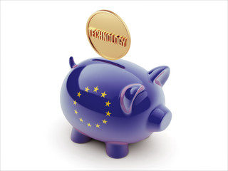 European Union  Piggy Concept