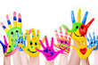 canvas print picture - coloful hands