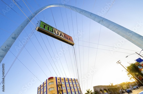 Monumental arch, Tijuana, Mexico - 66564913