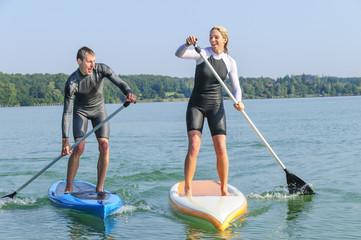 Spass beim Wassersport