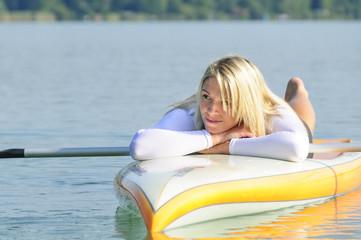 Relaxen auf dem Wasser