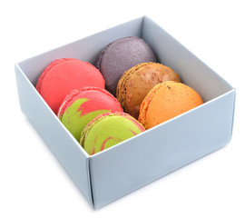Tasty macaroon in box