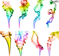textured of colorful incense smoke