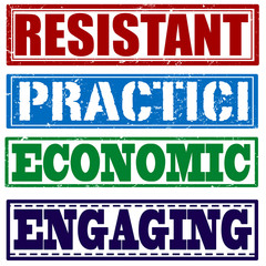resistant practici economic engaging stamp