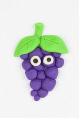 Plasticine grape.
