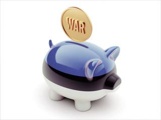 Estonia War Concept. Piggy Concept