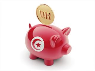 Tunisia War Concept. Piggy Concept
