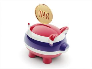 Thailand War Concept. Piggy Concept