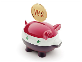 Syria War Concept. Piggy Concept