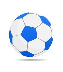 Ball blau weiß