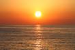 Leinwanddruck Bild - Golden sunset with reflection on the sea