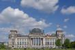 Leinwanddruck Bild - Reichstag building in Berlin, Germany