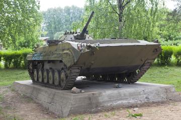 БМП-1 у мемориала воинам-интернационалистам в городе Вельск
