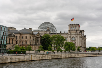 Rear of the Reichstag building in Berlin, Germany