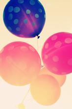 Close-up van kleurrijke ballonnen