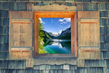 Fensterblick - Gosausee