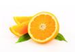 Cut orange fruit