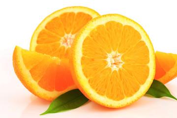Orange halves and wedges