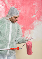 wall painter portrait
