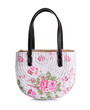 Craft Bag with decoupage on white background