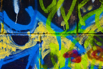 Graffiti wall as urban background