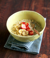 Bowl of oatmeal porridge