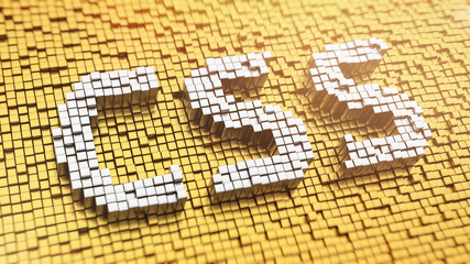 Pixelated CSS