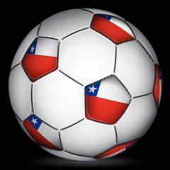 Chile soccer ball, vector