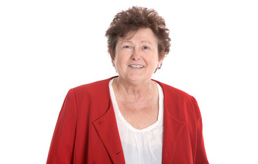 Generation 50 plus: Gesicht einer älteren lachenden Frau