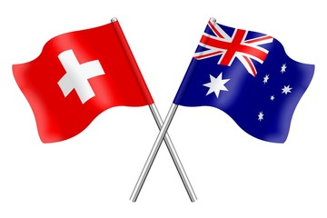 Flags: Switzerland and Australia