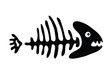 fish bone, vector illustration - 66573968