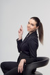 Business woman on the chair