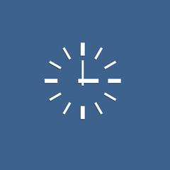 Minimalistic vector icon of clock from paper