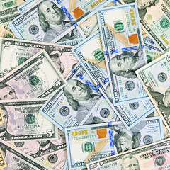 Dollar banknotes as a background