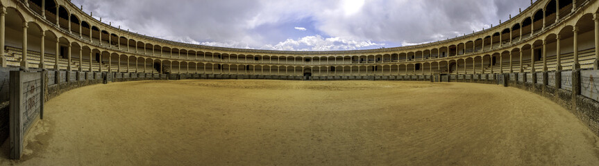 The Plaza de toros de Ronda, oldest bullfighting ring in Spain