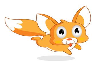 funny squirrel cartoon style