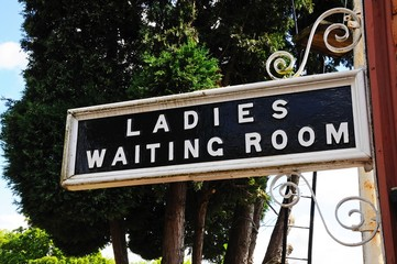 Retro Ladies Waiting Room sign © Arena Photo UK