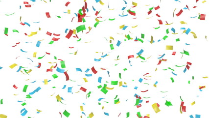 Animation of colorful confetti