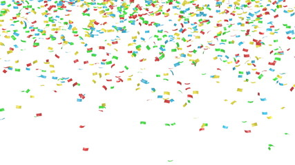Colorful confetti - isolated with alpha mask