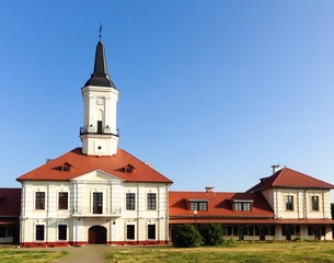 town city hall in eastern europe