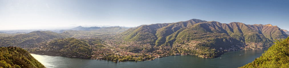 View at Como from Brunate