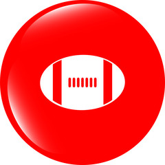 Football ball icon web button