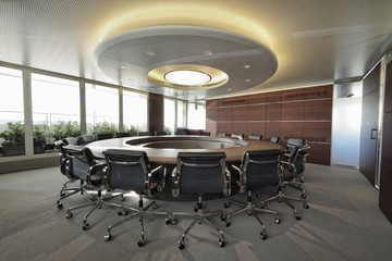 Italy, corporate business meeting room