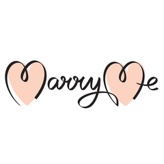 marry me wedding hand lettering handmade calligraphy