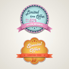 Discount vintage retro design style element