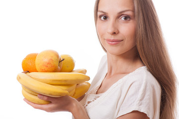 fruits in female hands