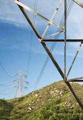 Electric Pylon with sky background