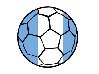 Isolated Clip Art Football With Argentina Flag's Colors