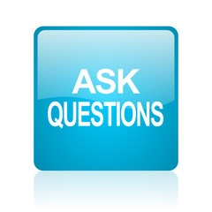 ask questions computer icon on white background