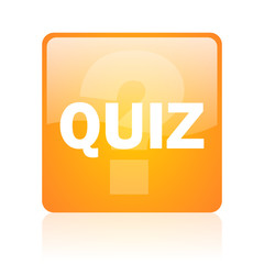 quiz computer icon on white background